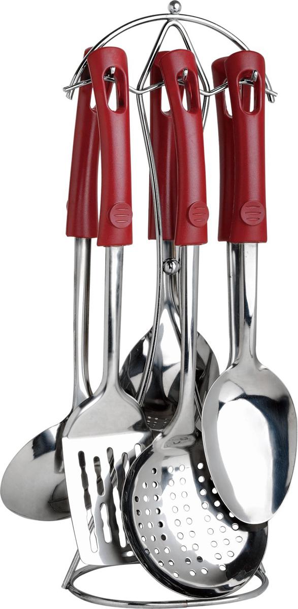 Набор кухонных принадлежностей Bayerhoff, цвет: красный, серебристый, 7 предметов набор кухонных принадлежностей calve на подставке 7 предметов