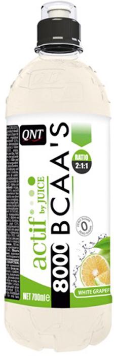 BCAA QNT Актиф бай джус БЦАА'C 8000, белый грейпфрут, 700 мл l карнитин qnt 3000 25 мл 20 ампул