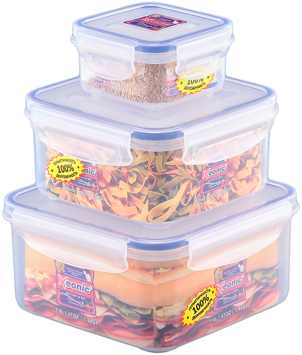 Качественные герметичные контейнеры, устойчивы к протеканию, отлично подходят для хранения и перевозки жидкостей, легко моются и удобны в использовании. Объем 1400 мл., 830 мл., 200 мл.