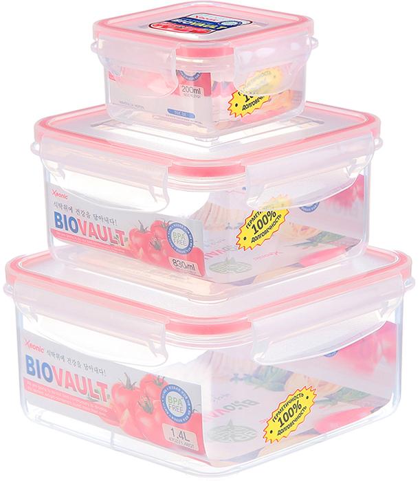 Пластиковые герметичные контейнеры для хранения продуктов произведены в Корее из высококачественных материалов, имеют 100% герметичность, термоустойчивы, могут быть использованы в микроволновой печи и в морозильной камере, устойчивы к воздействию масел и жиров, не впитывают запах. Удобны в использовании, долговечны, легко открываются и закрываются, не занимают много места, можно мыть в посудомоечной машине.