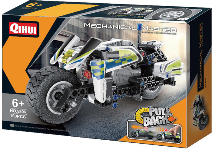 Qihui Конструктор Полицейский мотоцикл