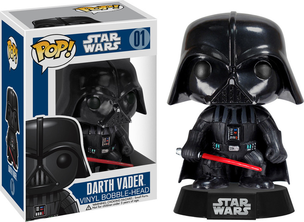 Funko POP! Bobble Фигурка Star Wars: Darth Vader 2300 фигурка funko pop star wars rogue one – young jyn erso bobble head 9 5 см