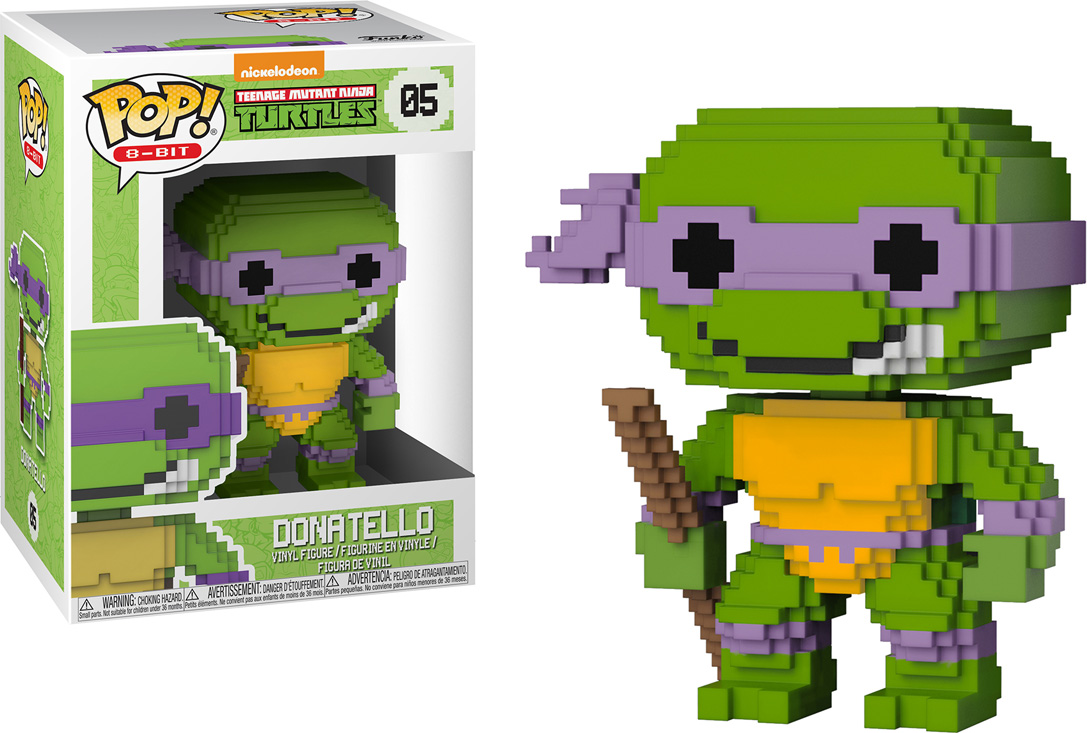 Funko POP! Vinyl Фигурка TMNT: 8-Bit Donatello 22983 2016 new bela 10261 tmnt teenage mutant ninja turtles karai bike escape building set building blocks bricks compatible 79118