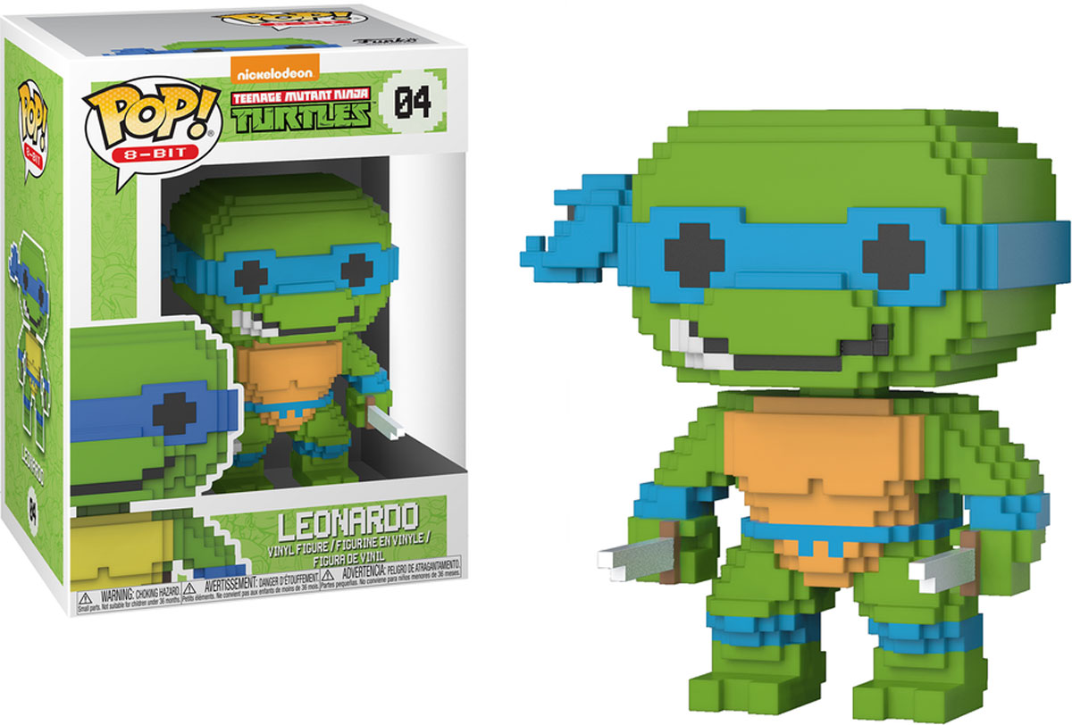 Funko POP! Vinyl Фигурка TMNT: 8-Bit Leonardo 22981 2016 new bela 10261 tmnt teenage mutant ninja turtles karai bike escape building set building blocks bricks compatible 79118