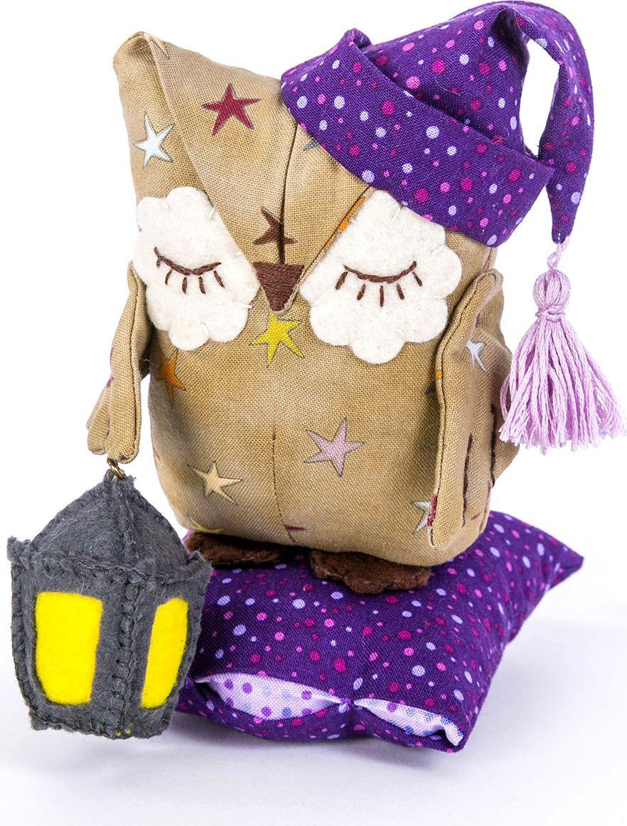 Набор для изготовления текстильной игрушки Перловка Совенок Дрема, высота 14,5 см набор для изготовления текстильной игрушки кустарь зайка ольга высота 29 см
