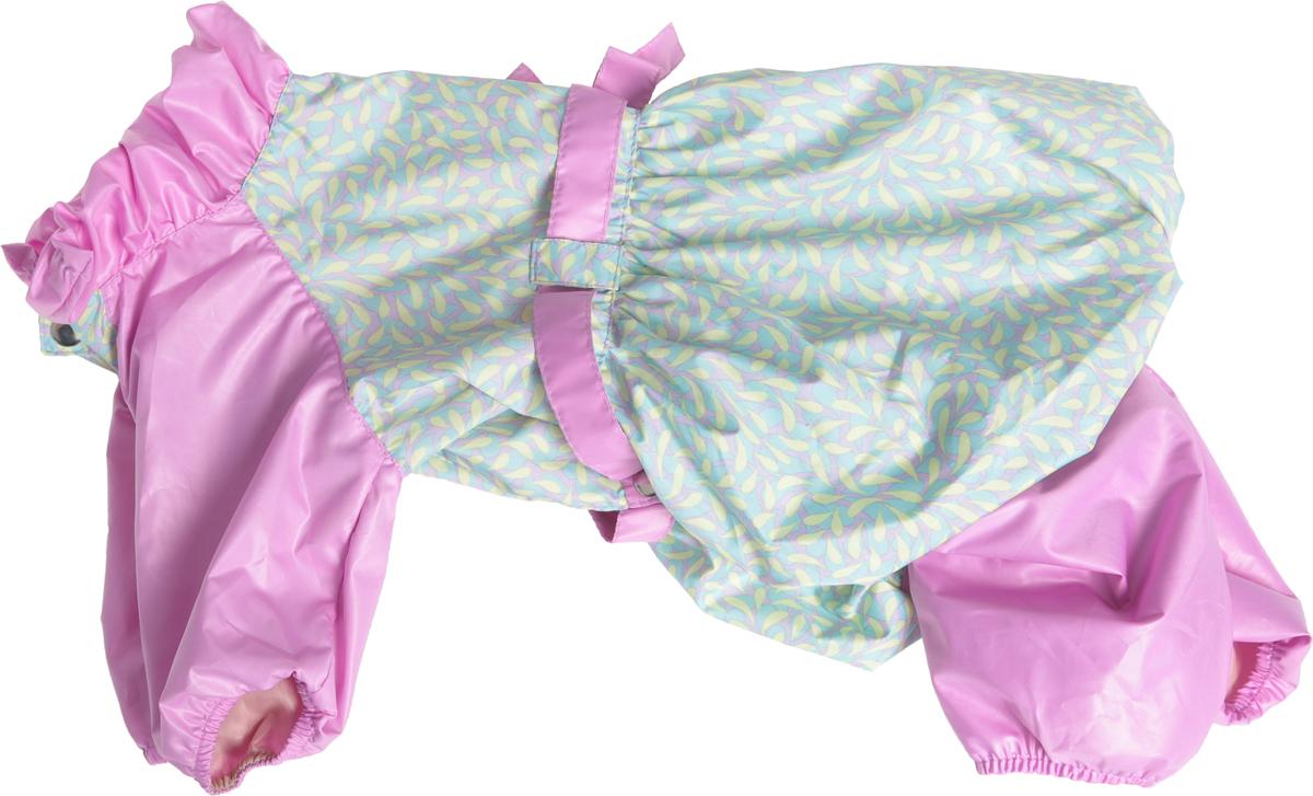 Комбинезон для собак Dogmoda Настроение, для девочки, цвет: сиреневый, салатовый. Размер XL цена