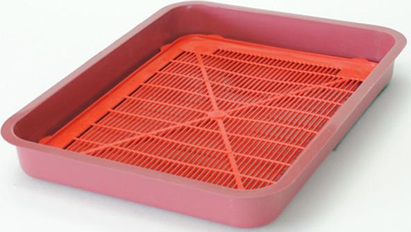 Туалет для кошек HomeCat, с сеткой, цвет: красный, 37 х 27 х 4,5 см bergamo туалет средний с бортами для кошек 45х35х10 см