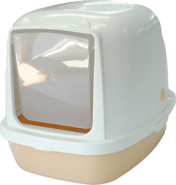 Туалет-домик HomeCat, для кошек и собак мелких пород, цвет: бежевый перламутр, 53 х 39 х 48 см