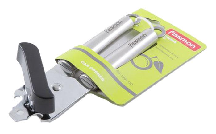 """Удобный, надежный нож Fissman """"Zonda"""" позволит вам с легкостью и без особых усилий открыть любую консервную банку за считанные секунды. Удобные ручки не скользят даже в мокрых руках. На консервном ноже имеется открывалка для бутылок. Наслаждайтесь приготовлением пищи вместе с аксессуарами от компании Fissman."""
