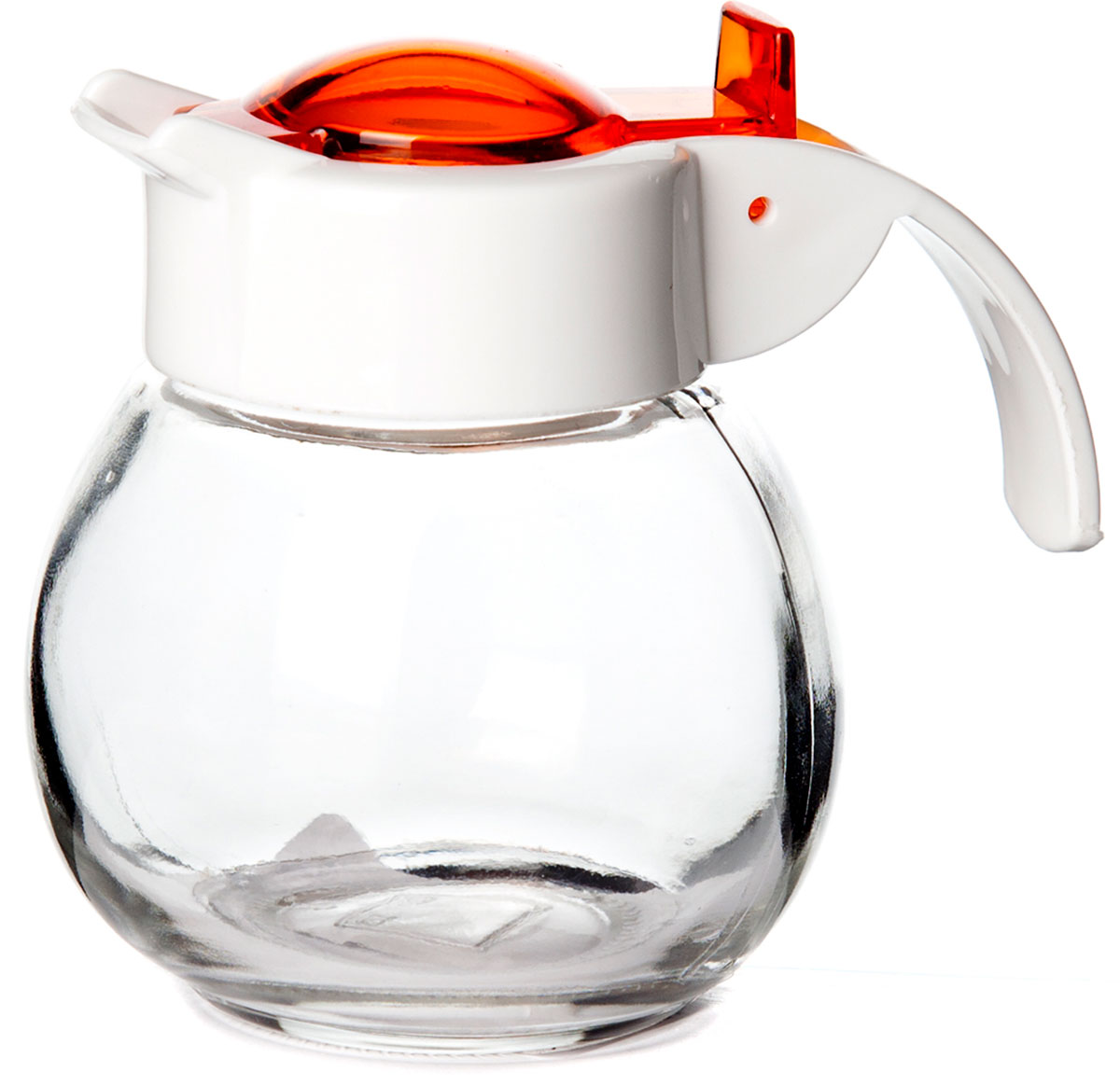 Емкость стеклян. для жидких специй с дозатором 8*8*8,5 см