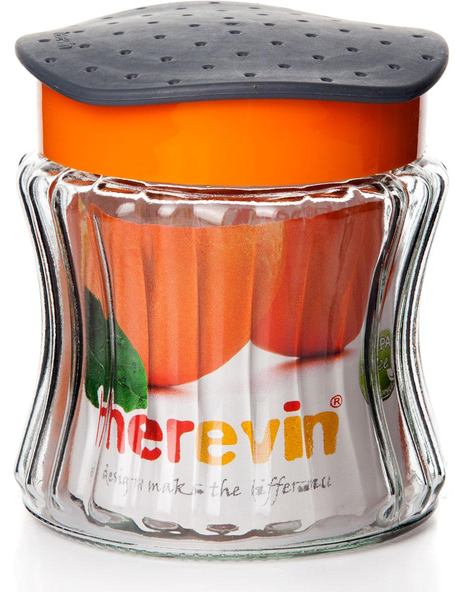 """Банка для сыпучих продуктов Herevin """"Сальса""""  изготовлена из прочного стекла. Благодаря плотно закрывающейся пластиковой крышке внутри сохраняется герметичность, и продукты дольше остаются свежими. Банка предназначена для хранения различных сыпучих продуктов: круп, чая, сахара, орехов и т.д. Функциональная и вместительная, такая банка станет незаменимым аксессуаром на любой кухне. Кроме того, банка выполнена в интересном дизайне и непременно станет украшением вашей кухни."""