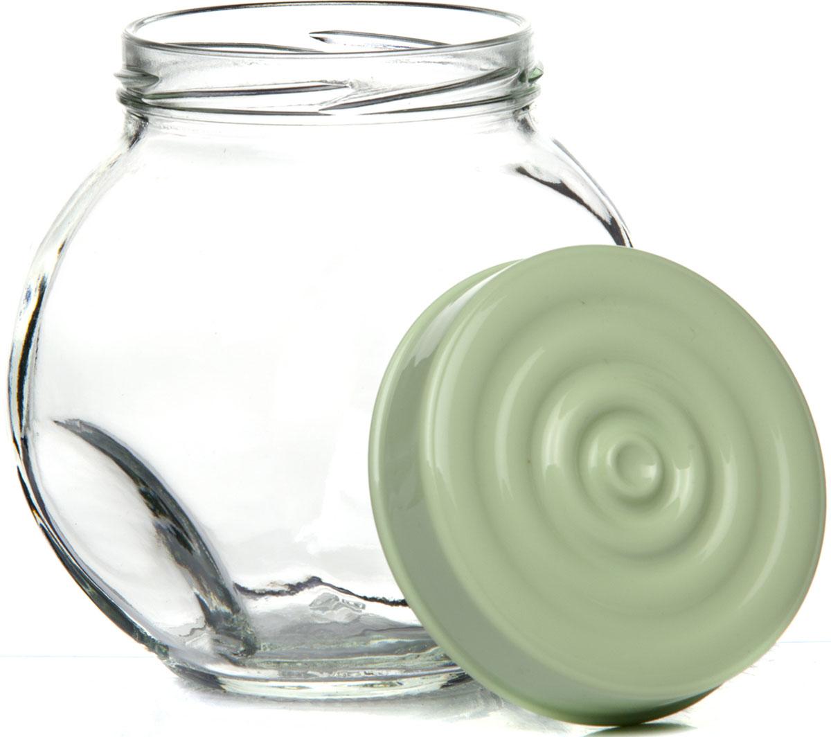 Банка для сыпучих продуктов Herevin, с крышкой, цвет: оливковый, 750 мл. 140308-500 емкость для хранения сыпучих продуктов с крышкой 10x7 5 см berghoff studio 1106373