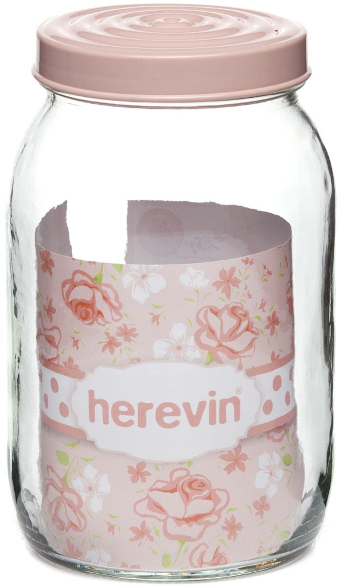 """Банка для сыпучих продуктов """"Herevin"""" изготовлена из прочного стекла. Благодаря плотно закрывающейся пластиковой крышке внутри сохраняется герметичность, и продукты дольше остаются свежими. Банка предназначена для хранения различных сыпучих продуктов: круп, чая, сахара, орехов и т.д. Функциональная и вместительная, такая банка станет незаменимым аксессуаром на любой кухне. Можно мыть в посудомоечной машине. Пластиковые части рекомендуется мыть вручную."""