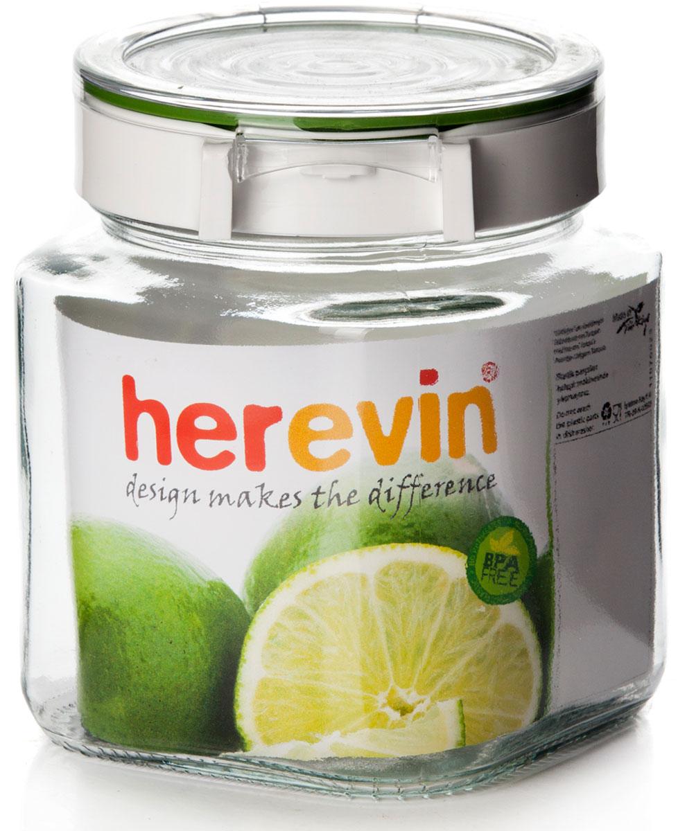 Банка для сыпучих продуктов Herevin, с крышкой, 1 л. 143010-000 банка для сыпучих продуктов luminarc клуб с крышкой 1 5 л