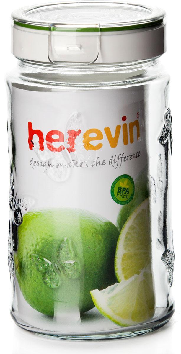 Банка для сыпучих продуктов Herevin, с крышкой, 1,7 л. 143202-000 емкость для хранения сыпучих продуктов с крышкой 10x7 5 см berghoff studio 1106373