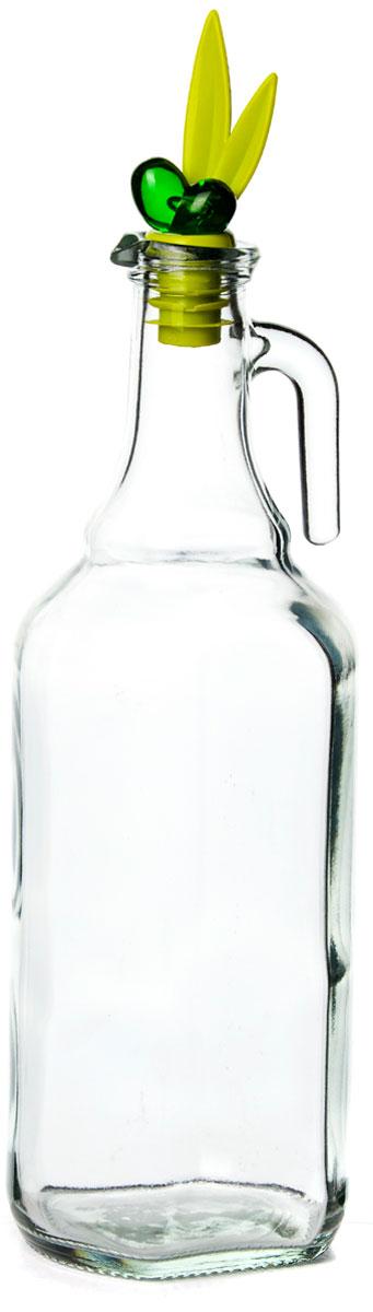 """Емкость для масла """"Herevin"""" - универсальное современное изделие для дома, дачи, кафе или ресторана, которое выглядит эстетично и декоративно, нетребовательно в уходе. Бутылка изготовлена из прозрачного прочного стекла. Дозатор зеленого цвета с уплотнителем обеспечивает надежную герметизацию для содержимого бутылки."""