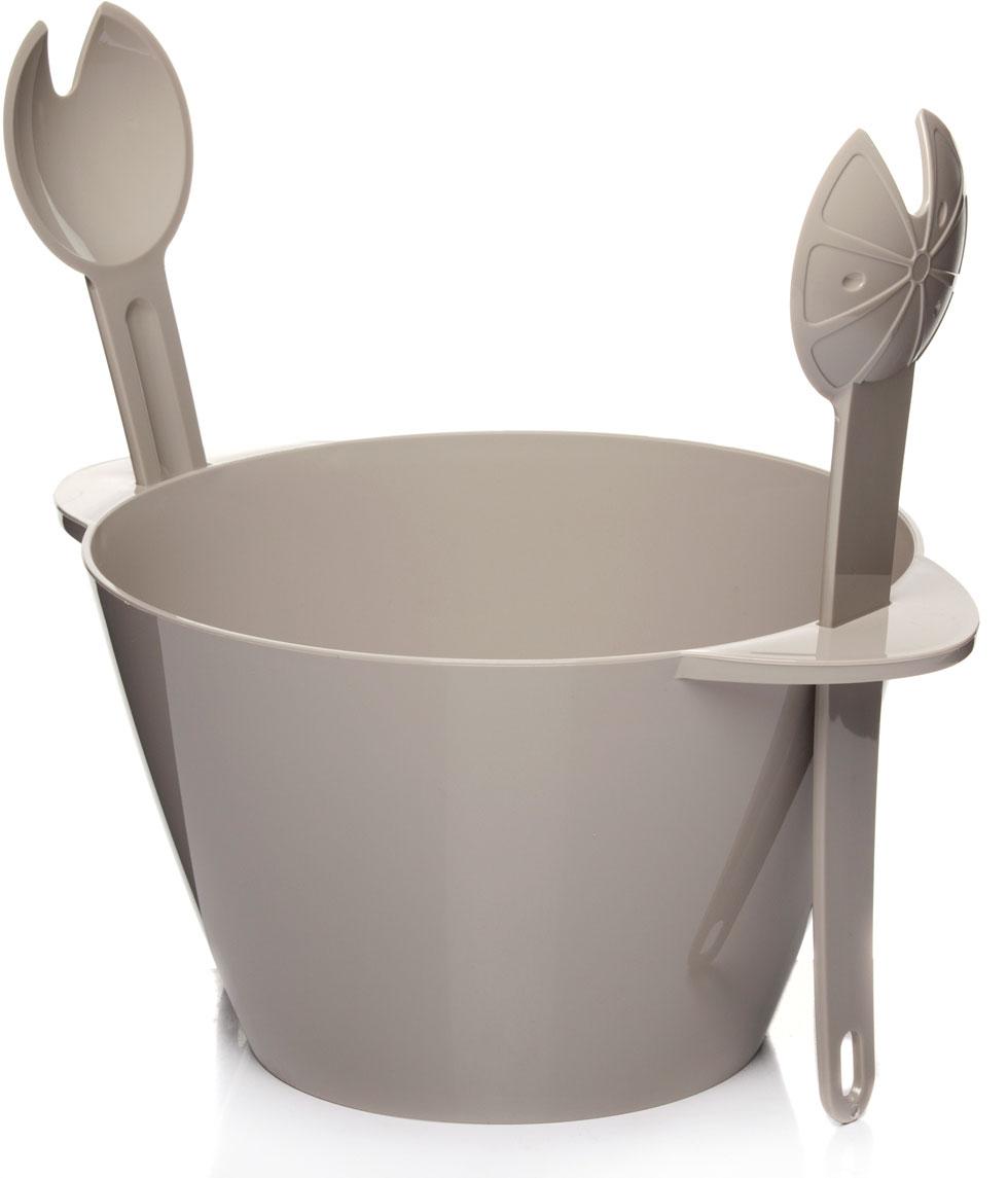 Набор для приготовления салата пластик 4 л (емкость 23*15 см+ложка 29 см)