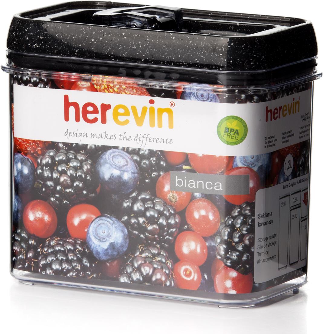 """Прямоугольный пищевой контейнер """"Herevin"""" изготовлен из высококачественного пищевого пластика. Контейнер безопасен для здоровья, не содержит BPA. Вакуумная крышка способствует более герметичному закрыванию, в связи с чем продукты дольше сохраняют свои свойства."""