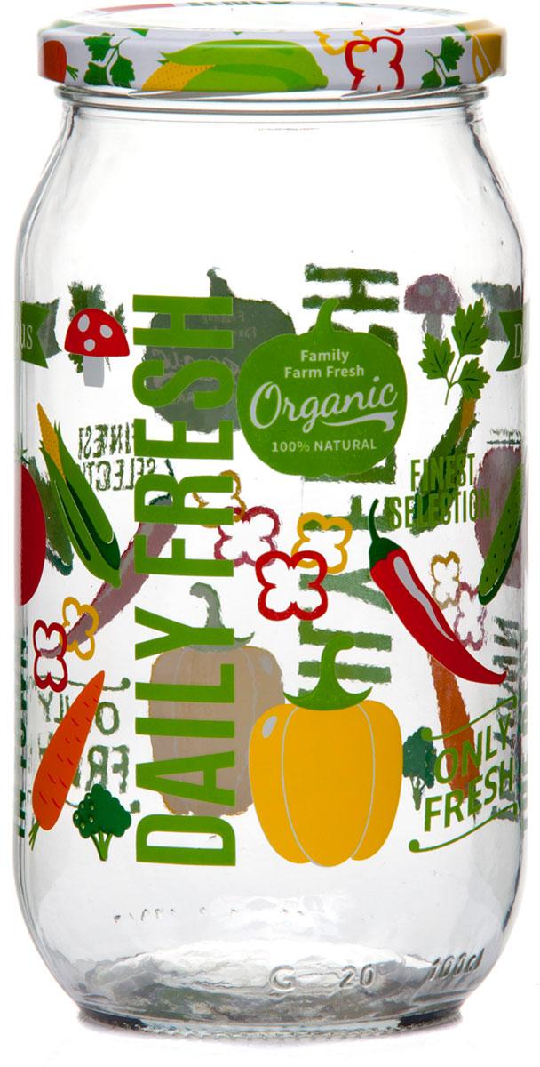 """Банка для сыпучих продуктов """"Herevin"""", изготовленная из прочного стекла, декорирована изображением цветов. Банка оснащена плотно закрывающейся пластиковой крышкой. Благодаря этому внутри сохраняется герметичность, и продукты дольше остаются свежими. Изделие предназначено для хранения различных сыпучих продуктов: круп, чая, сахара, орехов и т.д.Размеры: 8,5х8,5х18,5 см"""