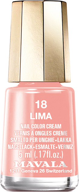 Mavala Лак для ногтей Lima тон 18, 5 мл mavala набор комплекс 3 mavala nail care 1 2 3 manicure a 11 072 1 шт