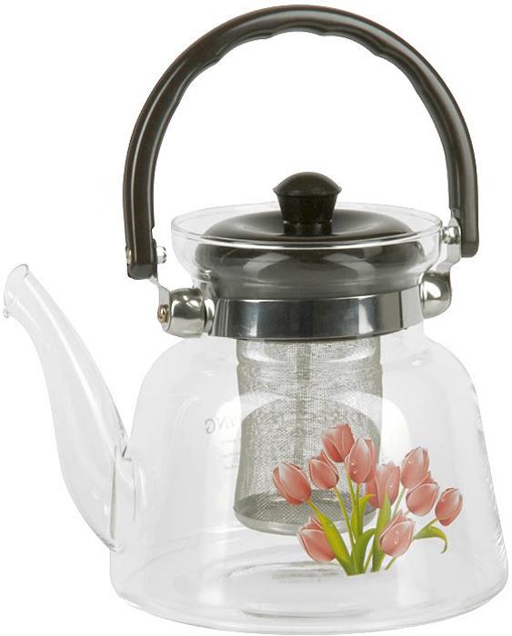 Чайник заварочный Rosenberg RGL-250003 изготовлен из жаропрочного стекла. Посуда из данного материала позволяет максимально сохранить полезные свойства и вкусовые качества воды. Заварите крепкий, ароматный чай в представленной модели, и вы получите заряд бодрости, позитива и энергии на весь день! Классическая форма и универсальная цветовая гамма изделия позволят наслаждаться любимым напитком в атмосфере еще большей гармонии, эмоциональной наполненности и добавят нотку романтичности.Преимущества чайника: Изготовлен из качественного материала.Выдерживает температуру от -15 C до 148 C.Подходит для газовых плит.Бакелитовая ручка не нагревается.Съемное металлическое ситечко для заварки также выполняет функцию фильтра, который задержит чаинки.Украшен цветочным декором, что придает изделию элегантность и утонченность. О бренде Rosenberg: огромный ассортимент продукции, качественные материалы и ценовая доступность - это основополагающие принципы успеха данного торгового знака на Российском рынке. По данным начала 2009 года именно Rosenberg являлся самым динамично развивающимся брендом, который всего за 4 года вывел в продажу более 2,5 тысяч наименований товаров.