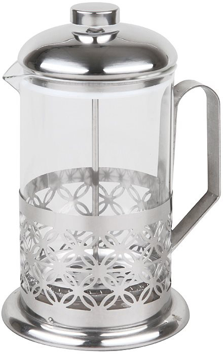 Если вы любите чай и кофе также, как любим их мы, то наверняка знаете, что поистине вкусны и ароматны бывают, исключительно, заварные напитки. Никаких тебе пакетиков, быстрорастворимого кофе и разрекламированных чайных пирамидок! Традиционно, для заваривания кофе используют турку, а для чая керамический чайник. Вы удивитесь, но оба этих предмета с легкостью объединяет в себе френч-пресс Rosenberg RPG-660013! Френч-пресс крайне удобен и практичен в использовании. Помимо, уже упомянутых, чая и кофе он также подходит для приготовления травяных, ягодных и фруктовых настоев. Просто засыпьте в колбу соответствующую заварку, залейте содержимое кипятком и дайте настояться. Когда напиток заварится и будет готов к употреблению опустите поршень и подождите пока осадок опустится на дно. Такой отжим придаст напитку еще более насыщенный цвет и вкус. Прозрачная колба напиток заваривается прямо у вас на глазах. Наличие фильтра-поршня обеспечивает равномерную циркуляцию воды. Эргономичная ручка френч-пресс удобно держать в руках. Особая форма носика предотвращает образование подтеков. Оригинальный дизайн френч пресс прекрасно впишется в сервировку стола. Корпус модели выполнен из нержавеющей стали, а колба из, устойчивого к перепадам температур, стекла. Нержавеющая сталь повсеместно используется в производстве посуды и отличается прекрасными потребительскими свойствами. Данный металл, даже под воздействием температуры, не вступает с продуктами в реакции окисления и способствует максимальному сохранению в них вкуса и полезных веществ.