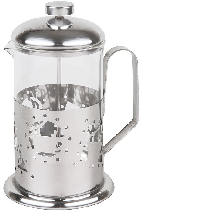 Если вы любите чай и кофе также, как любим их мы, то наверняка знаете, что поистине вкусны и ароматны бывают, исключительно, заварные напитки. Никаких тебе пакетиков, быстрорастворимого кофе и разрекламированных чайных пирамидок! Традиционно, для заваривания кофе используют турку, а для чая керамический чайник. Вы удивитесь, но оба этих предмета с легкостью объединяет в себе френч-пресс Rosenberg RPG-660014! Френч-пресс крайне удобен и практичен в использовании. Помимо, уже упомянутых, чая и кофе он также подходит для приготовления травяных, ягодных и фруктовых настоев. Просто засыпьте в колбу соответствующую заварку, залейте содержимое кипятком и дайте настояться. Когда напиток заварится и будет готов к употреблению опустите поршень и подождите пока осадок опустится на дно. Такой отжим придаст напитку еще более насыщенный цвет и вкус. Прозрачная колба напиток заваривается прямо у вас на глазах. Наличие фильтра-поршня обеспечивает равномерную циркуляцию воды. Эргономичная ручка френч-пресс удобно держать в руках. Особая форма носика предотвращает образование подтеков. Оригинальный дизайн френч пресс прекрасно впишется в сервировку стола. Корпус модели выполнен из нержавеющей стали, а колба из, устойчивого к перепадам температур, стекла. Нержавеющая сталь повсеместно используется в производстве посуды и отличается прекрасными потребительскими свойствами. Данный металл, даже под воздействием температуры, не вступает с продуктами в реакции окисления и способствует максимальному сохранению в них вкуса и полезных веществ.