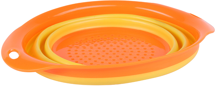 Дуршлаг складной Rosenberg RSI-525003 станет прекрасным дополнением к набору аксессуаров и принадлежностей для кухни. Модель не только практична, но функциональна в использовании, подходит для сушки продуктов, промывания овощей и процеживания жидкости при приготовлении макаронных изделий и круп. Дуршлаг снабжен двумя боковыми ручками.Особенности и преимущества:Силиконовый корпус.Складная конструкция.Яркий красочный дизайн.Отверстия для подвешивания на ручке.Rosenberg - синоним качества Торговая марка Rosenberg уже на протяжении многих лет пользуется неизменной популярностью на рынке посуды. При создании своей продукции компания использует как традиционные, так и современные тенденции, что позволяет добиться высоких стандартов качества и удовлетворить пожелания любых, даже самых взыскательных, покупателей.