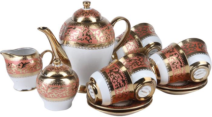 """Чайный сервиз """"Rosenberg"""" RPO-115031 Paradiso станет отличным дополнением к набору посуды и прекрасно подойдет для сервировки праздничного чаепития. Посуда выполнена из высококачественного фарфора, отличается изысканным дизайном и великолепным качеством исполнения. Все предметы выполнены в одном стиле и украшены изящным орнаментом. Вместе они создают единый ансамбль и стилистически дополняют друг друга.""""Rosenberg"""" - синоним качества.Торговая марка """"Rosenberg"""" уже на протяжении многих лет пользуется неизменной популярностью на рынке посуды. При создании своей продукции компания использует как традиционные, так и современные тенденции, что позволяет добиться высоких стандартов качества и удовлетворить пожелания."""