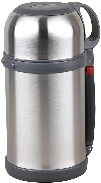 Термос Rosenberg RSS-420024 универсальный термос, который станет незаменимым спутником для тех, кто увлекается туризмом, охотой, рыбалкой или просто любит долгие походы. Основное отличие этой модели термоса от обычных заключается в его прочных металлических стенках, которые прекрасно сохраняют температуру напитков. Подходит для хранения горячих или холодных напитков. Сохраняет напиток теплым или холодным в течение 24 часов. Удобный, вместительный и практичный Данная модель обладает рядом преимуществ, которые вы сможете оценить по достоинству. Корпус термоса и внутренняя колба выполнены из качественной нержавеющей стали. Этот материал легко выдерживает удары и падения, поэтому такой термос не только очень практичен, но и долговечен. Его можно брать с собой на работу, на отдых или в поход, на тренировку или рыбалку! Внутренняя колба не влияет на качество и вкус хранящихся продуктов, легко моется, не впитывает запахи. Крышку можно использовать в качестве чашки. Удобная пластиковая ручка для комфортной транспортировки.