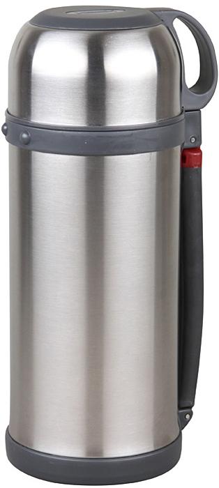 Термос Rosenberg RSS-420026 универсальный термос, который станет незаменимым спутником для тех, кто увлекается туризмом, охотой, рыбалкой или просто любит долгие походы. Основное отличие этой модели термоса от обычных заключается в его прочных металлических стенках, которые прекрасно сохраняют температуру напитков. Подходит для хранения горячих или холодных напитков. Сохраняет напиток теплым или холодным в течение 24 часов. Удобный, вместительный и практичный.Данная модель обладает рядом преимуществ, которые вы сможете оценить по достоинству. Корпус термоса и внутренняя колба выполнены из качественной нержавеющей стали. Этот материал легко выдерживает удары и падения, поэтому такой термос не только очень практичен, но и долговечен. Его можно брать с собой на работу, на отдых или в поход, на тренировку или рыбалку! Внутренняя колба не влияет на качество и вкус хранящихся продуктов, легко моется, не впитывает запахи. Крышку можно использовать в качестве чашки. Удобная пластиковая ручка для комфортной транспортировки.