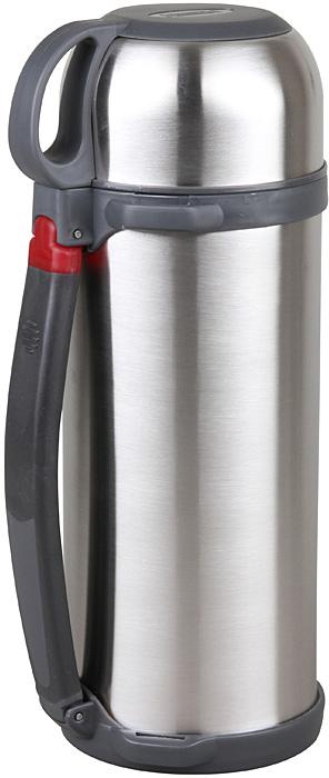 Термос Rosenberg RSS-420027 универсальный термос, который станет незаменимым спутником для тех, кто увлекается туризмом, охотой, рыбалкой или просто любит долгие походы. Основное отличие этой модели термоса от обычных заключается в его прочных металлических стенках, которые прекрасно сохраняют температуру напитков. Подходит для хранения горячих или холодных напитков. Сохраняет напиток теплым или холодным в течение 24 часов. Удобный, вместительный и практичный Данная модель обладает рядом преимуществ, которые вы сможете оценить по достоинству. Корпус термоса и внутренняя колба выполнены из качественной нержавеющей стали. Этот материал легко выдерживает удары и падения, поэтому такой термос не только очень практичен, но и долговечен. Его можно брать с собой на работу, на отдых или в поход, на тренировку или рыбалку! Внутренняя колба не влияет на качество и вкус хранящихся продуктов, легко моется, не впитывает запахи. Крышку можно использовать в качестве чашки. Удобная пластиковая ручка для комфортной транспортировки.