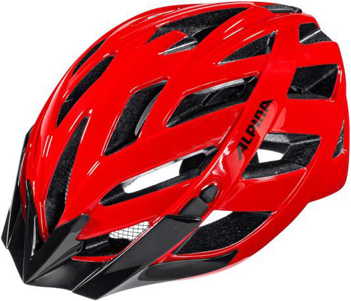 Велошлем Alpina Panoma Classic, цвет: красный. Размер 52-57 см