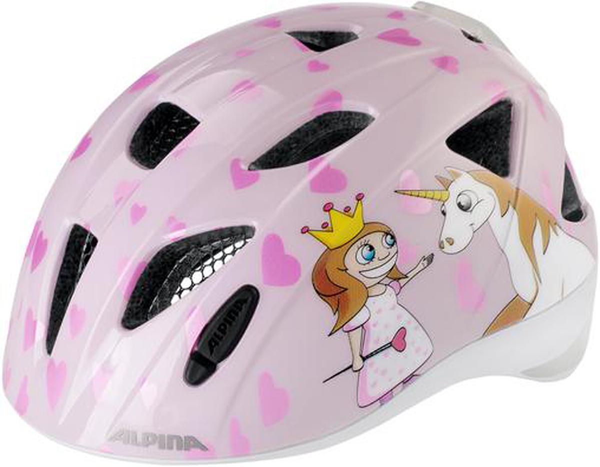 Велошлем Alpina Ximo Flash, цвет: розовый. Размер 45-49 см