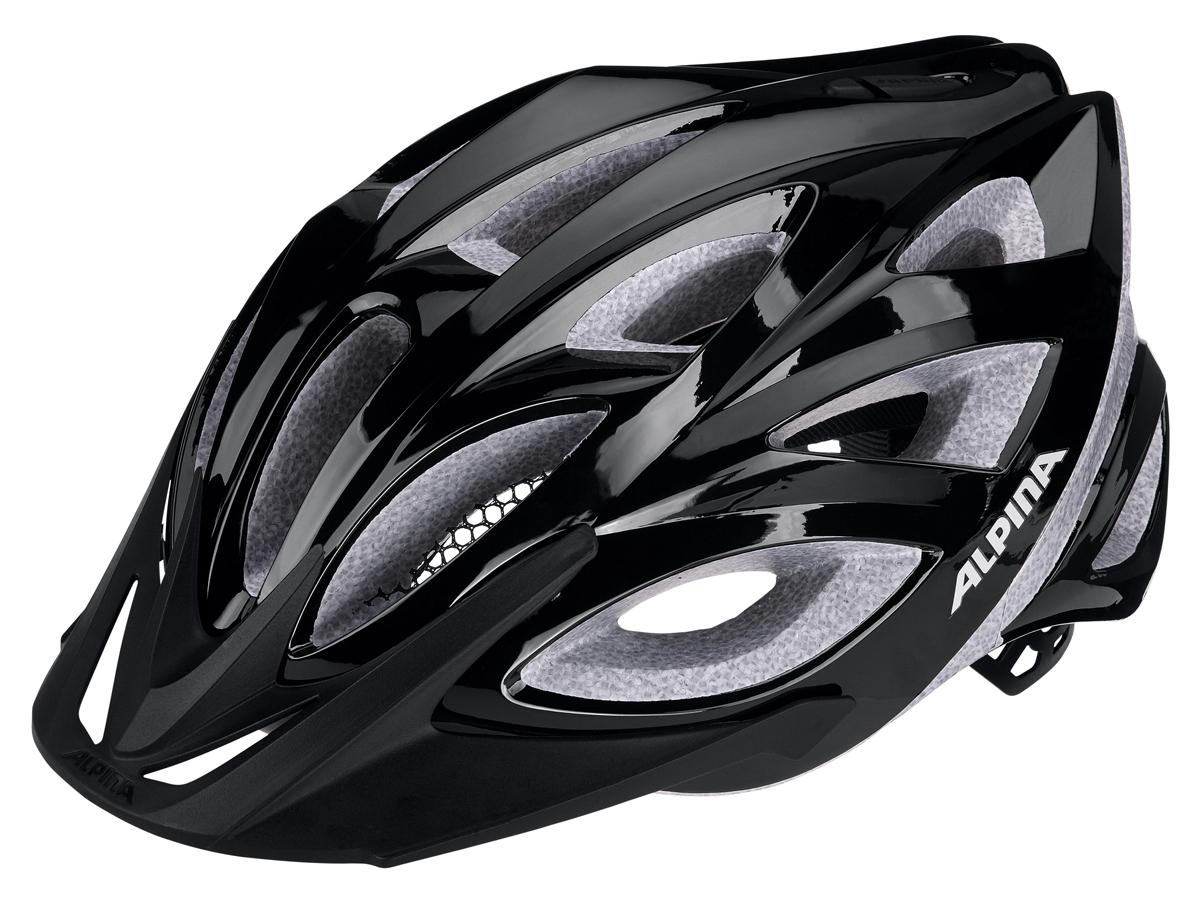 Велошлем Alpina Seheos, цвет: черный. Размер 58-63 см