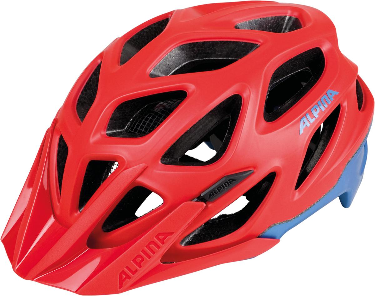 Велошлем Alpina Mythos 3.0 LE, цвет: красный, синий. Размер 52-57 см
