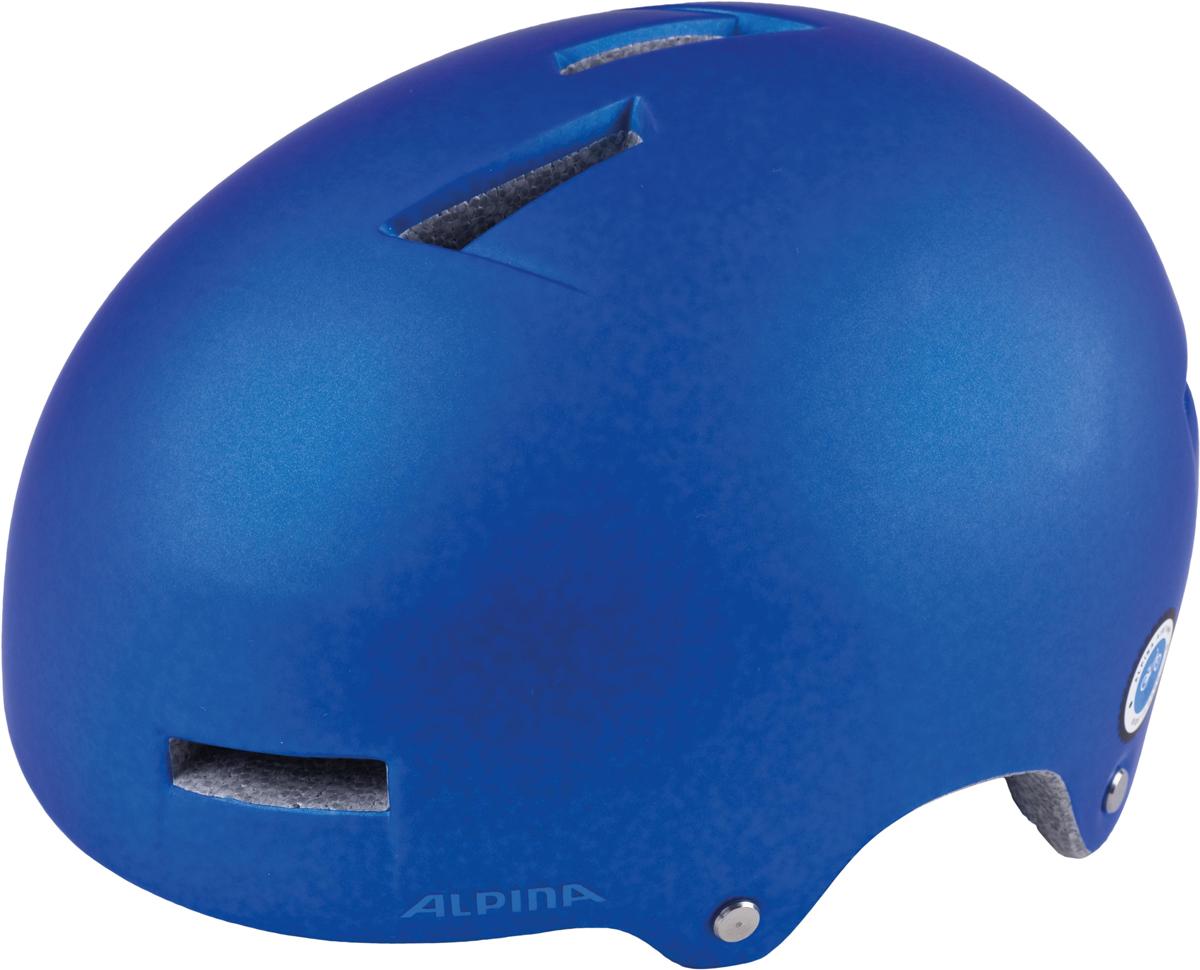 Велошлем Alpina Airtime, цвет: синий. Размер 52-57 см