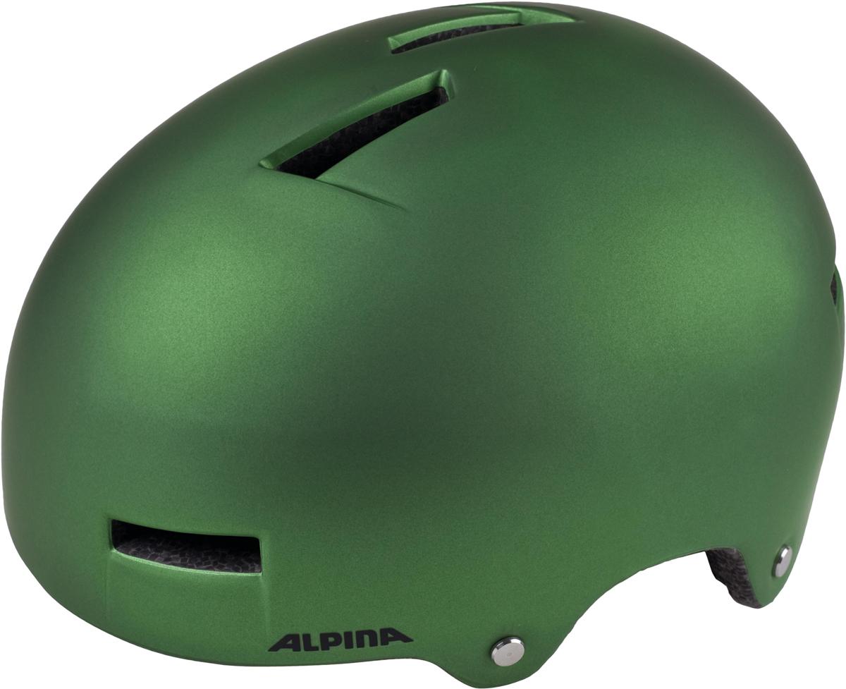 Велошлем Alpina Airtime, цвет: зеленый. Размер 52-57 см