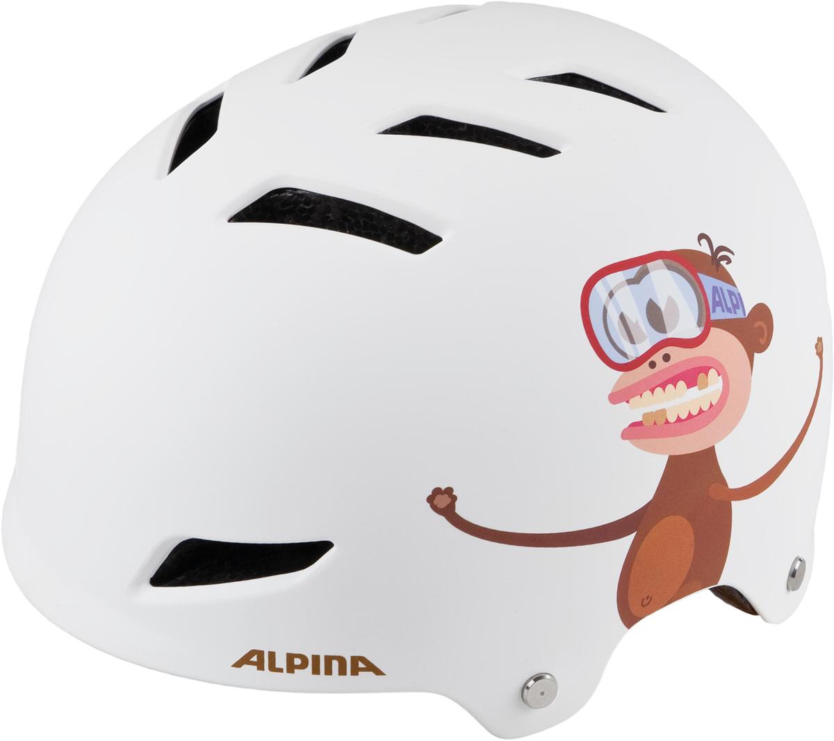 Велошлем Alpina Alpina Park jr., цвет: белый. Размер 51-55 см