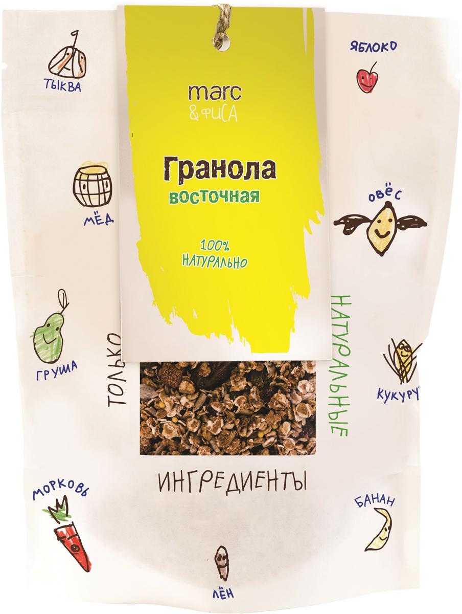 Удивительное сочетание запеченных при низкой температуре злаков с легкой сладостью меда и корицы. Курага и миндальный орех унесут воспоминания в Самарканд, а семена льна, тыквы, клетчатка зарядят тело на продуктивный день. Удобная упаковка позволяет многократно открывать и закрывать пакетик. Рекомендуется для всей семьи. Продукция под торговой маркой Marc&Фиса - создано в России из российских ингредиентов для детей и взрослых. Не содержит консервантов и искусственных добавок.