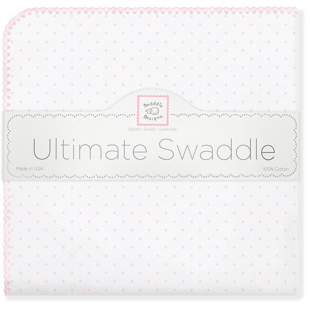 SwaddleDesigns Пеленка фланелевая Pstl Pink Dot swaddledesigns пеленка фланелевая bt pink polka dot