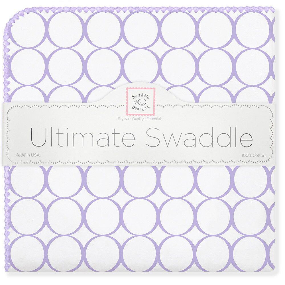SwaddleDesigns Пеленка фланелевая Lavender Mod WH фланелевая пеленка swaddledesigns дл�� новорожденного bt blue polka dot sd 001b