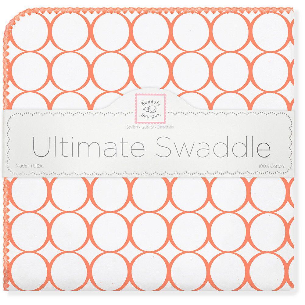 SwaddleDesigns Пеленка фланелевая Orange Mod WH фланелевая пеленка swaddledesigns дл�� новорожденного bt blue polka dot sd 001b