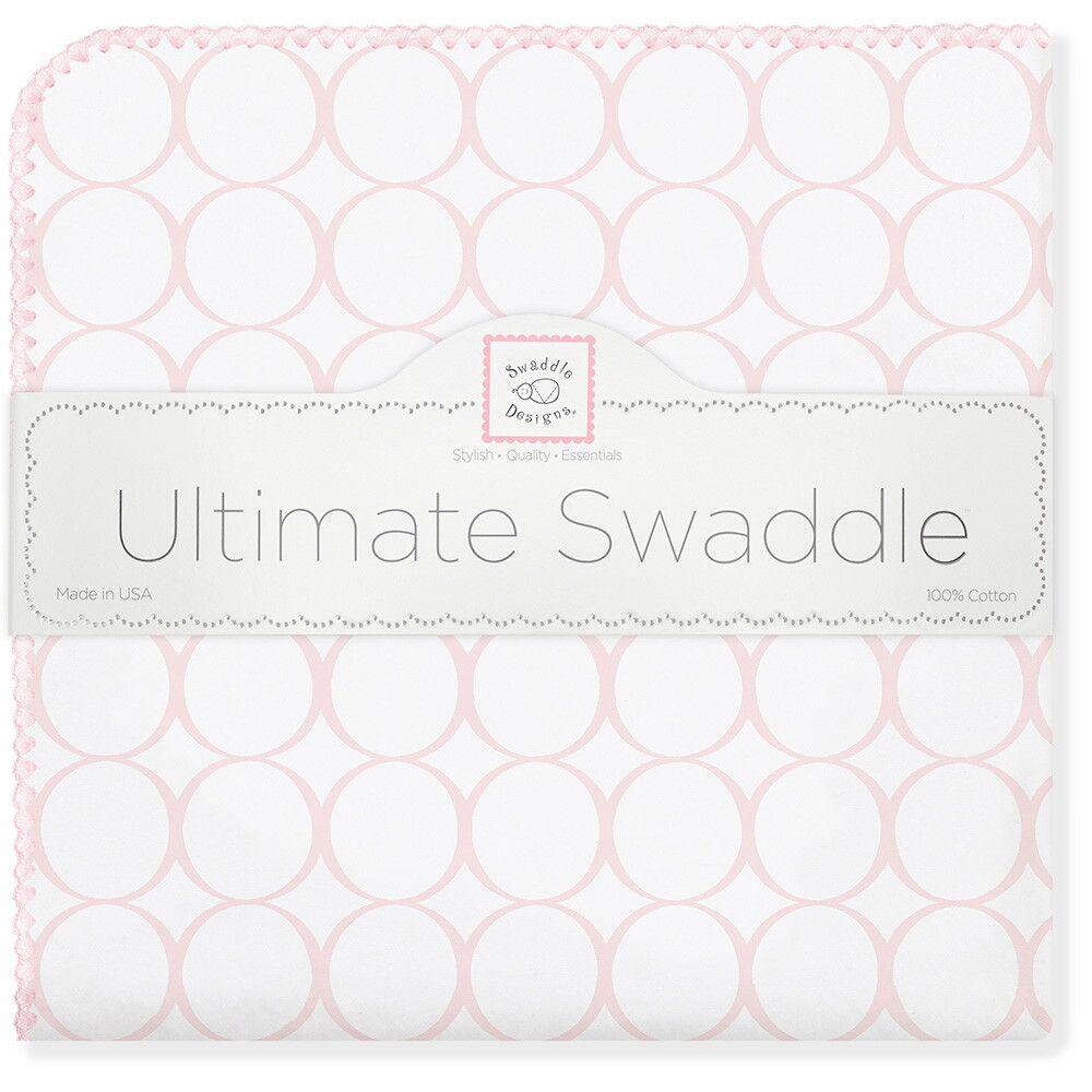 SwaddleDesigns Пеленка фланелевая Pink Mod on WH