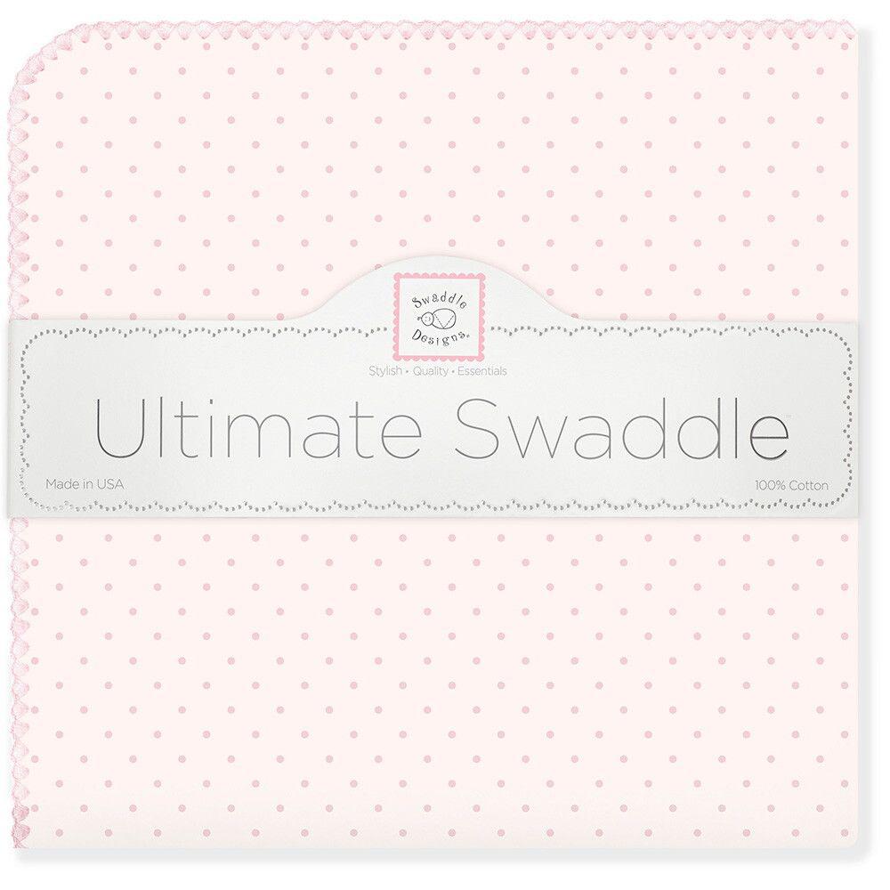 SwaddleDesigns Пеленка фланелевая Pink w Pink Dot