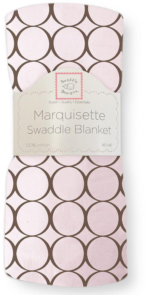 SwaddleDesigns Пеленка тонкая Marquisette Pink w BR Mod C