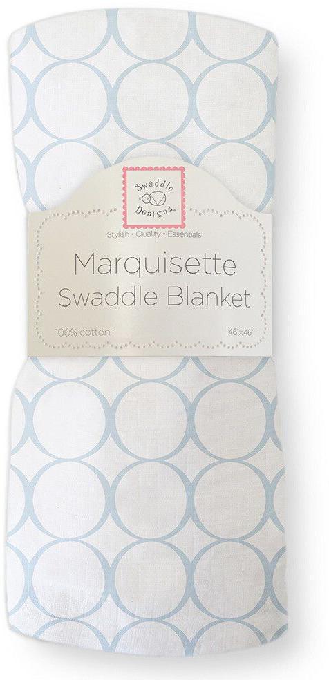 SwaddleDesigns Пеленка тонкая Marquisette Blue Mod on WH