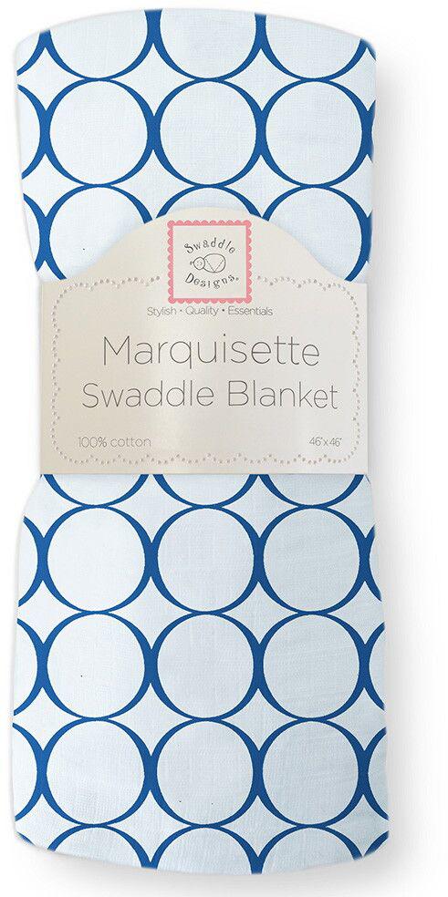 SwaddleDesigns Пеленка тонкая Marquisette True Blue Mod C