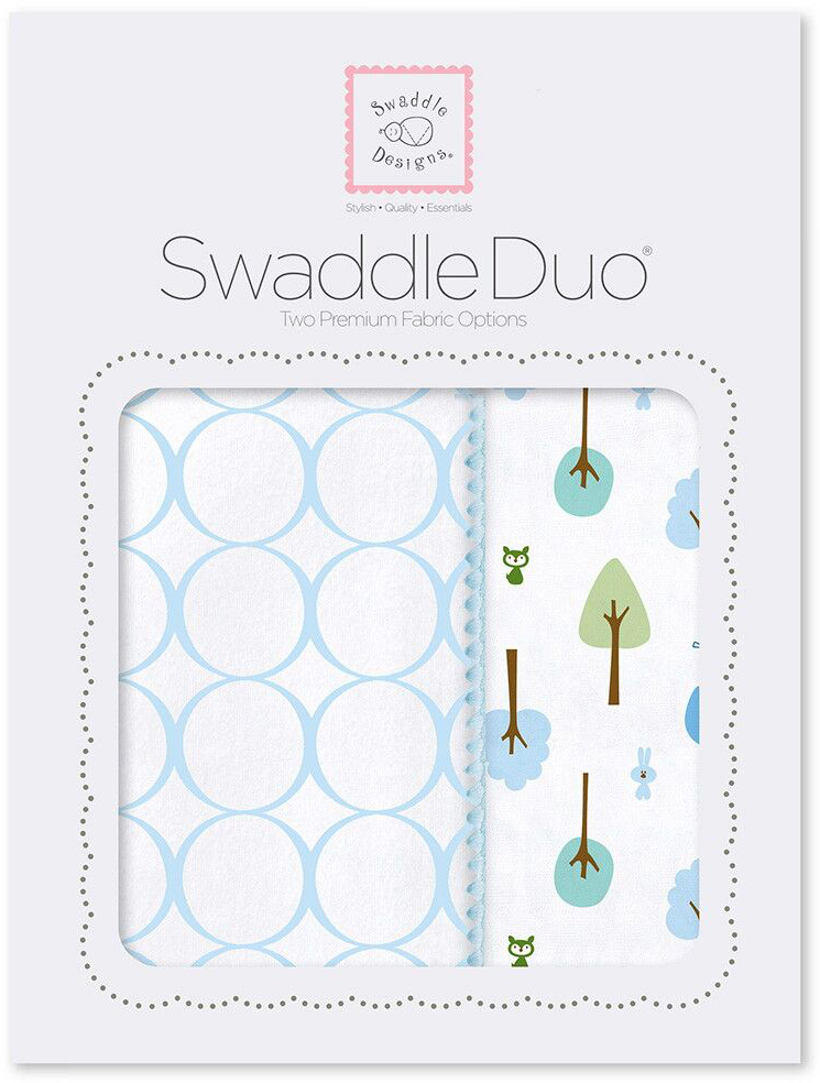 SwaddleDesigns Набор пеленок Swaddle Duo PB Cute & Wild 2 шт набор пеленок swaddledesigns swaddle duo pstl pink modern