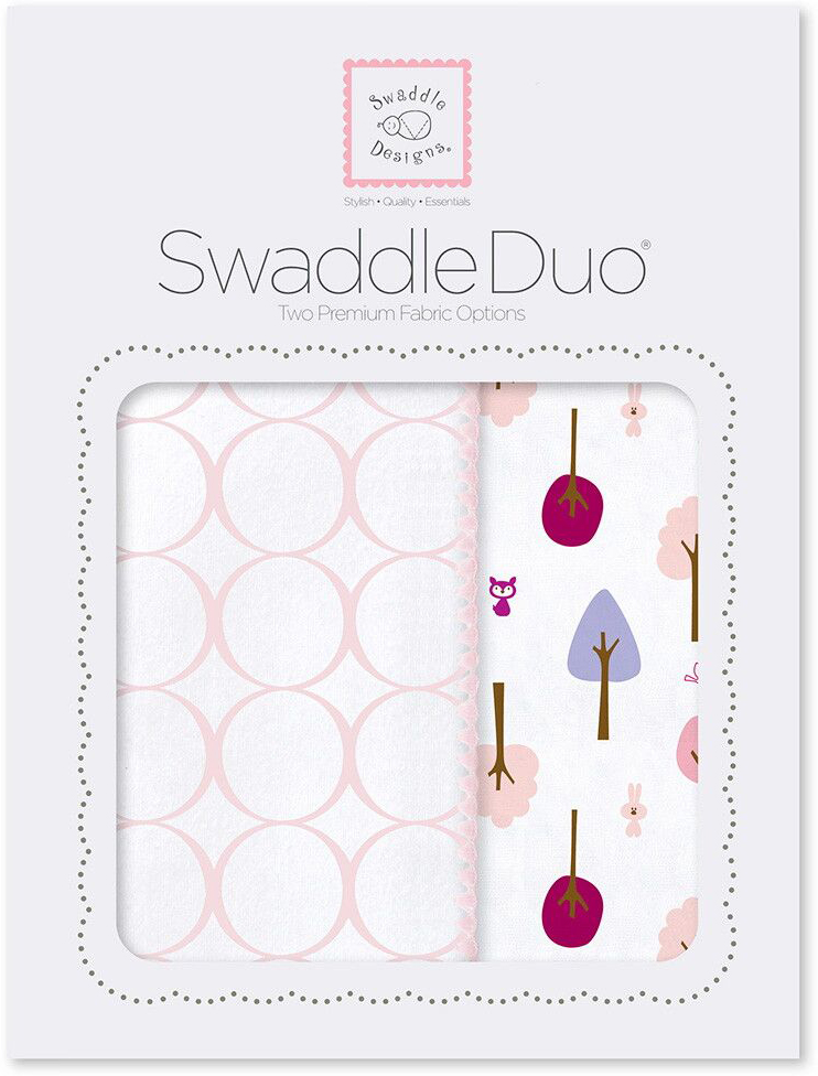 SwaddleDesigns Набор пеленок Swaddle Duo PP Cute & Wild 2 шт набор пеленок swaddledesigns swaddle duo pstl pink modern
